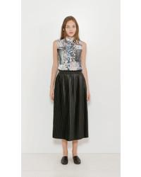 MM6 MAISON MARGIELA Faux Leather Pleated Skirt