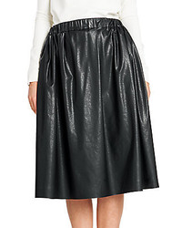 Msgm faux leather full midi skirt medium 321859
