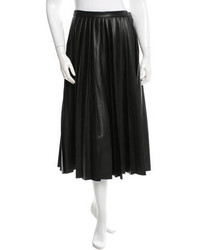 By Malene Birger Pleated Leather Skirt