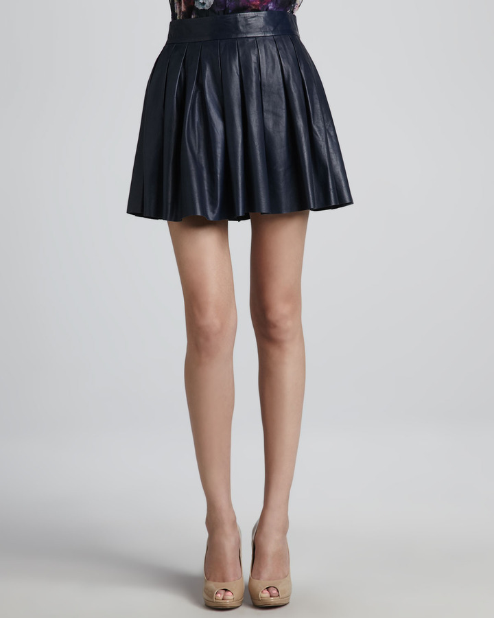 pleated leather skirt where to buy how