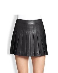 BCBGMAXAZRIA Pleated Mini Skirt Black