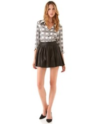 Alice   Olivia Box Pleat Leather Skirt | Where to buy & how to wear