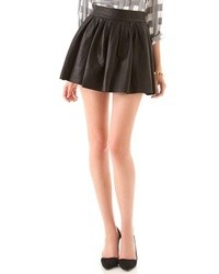 Box pleat leather skirt medium 13933