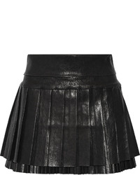 Isabel Marant Diana Pleated Leather Mini Skirt