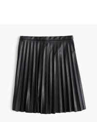 J.Crew Tall Faux Leather Pleated Mini Skirt