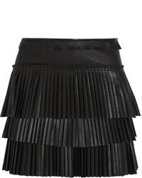 Isabel Marant Jeneth Pleated Leather Mini Skirt