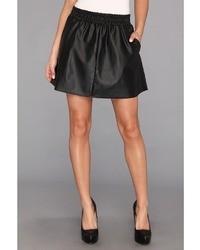 BCBGMAXAZRIA Laika Leather Mini Skirt Apparel
