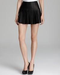 Alice + Olivia Mini Skirt Pleated Leather
