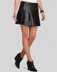 BCBGMAXAZRIA Mini Skirt Shane Pleated Faux Leather