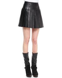 Belstaff Pleated Glove Leather Skirt