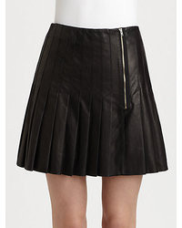 Band Of Outsiders Pleated Leather Skirt