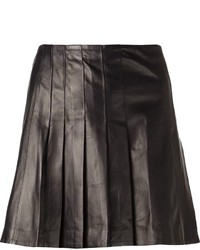 Tess Giberson Pleated Leather Skirt