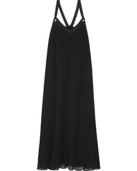 Black Pleated Maxi Dress