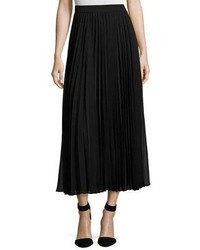 Collection pleated georgette maxi skirt black medium 4353496