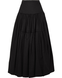 Molly Goddard Liberty Tiered Cotton Twill Maxi Skirt