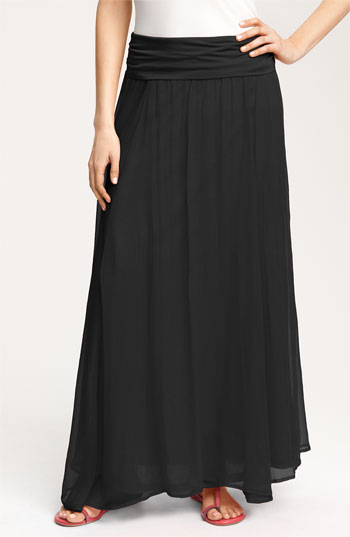 max crinkled maxi skirt black large where to buy