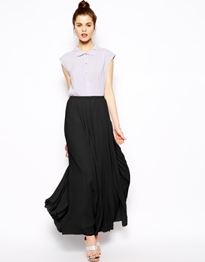 black pleated maxi skirt outfit wwwpixsharkcom
