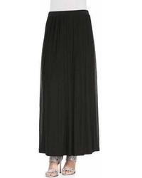 Eileen Fisher Silk Pleated Maxi Skirt Petite
