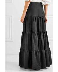f22d2255e6 Matin Tiered Silk And Maxi Skirt, $470 | NET-A-PORTER.COM ...