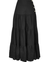 Matin Tiered Silk And Maxi Skirt