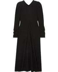 Isabel Marant Abi Gathered Crepe Midi Dress