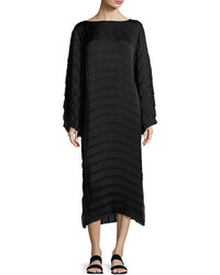 Melanie pleated crepe midi dress black medium 3698223