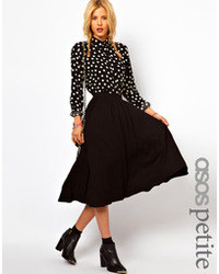 Women's Black Pleated Midi Skirts from Asos | Women's Fashion
