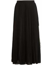 Proenza Schouler Cut Out Hem Pleated Crepe Midi Skirt