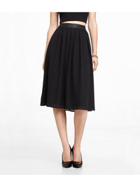 Express Leather High Waist Midi Skirt