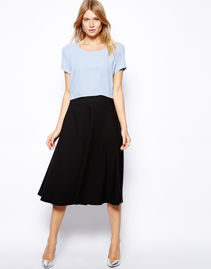 Love Midi Skater Skirt Black | Where to buy & how to wear