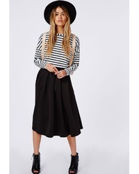 Missguided Auberta Pleated Midi Skirt Black | Where to buy & how ...