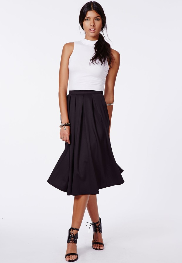 black pleated midi skirt missguided auberta pleated midi