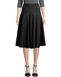 Derek Lam Pleated Flared Midi Skirt