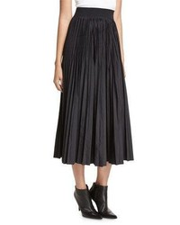 DKNY Pleated Midi Skirt Black