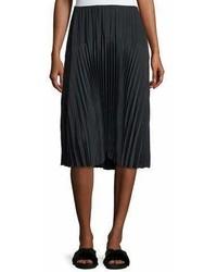Vince Pleated Seamed Midi Skirt