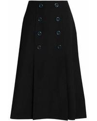 Raoul Pleated Twill Flared Midi Skirt
