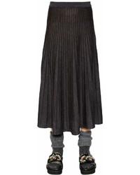 Antonio Marras Pleated Virgin Wool Midi Skirt