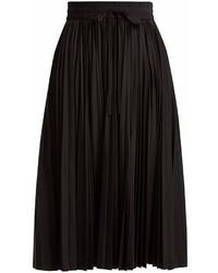 RED Valentino Redvalentino Mid Rise Pleated Taffeta Midi Skirt
