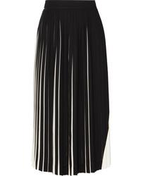 Maison Margiela Two Tone Pleated Cady Midi Skirt