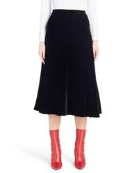 Fendi Velvet Midi Skirt