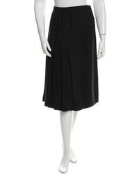Saint Laurent Yves Pleated Midi Skirt