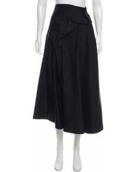 Saint Laurent Yves Silk Midi Skirt W Tags