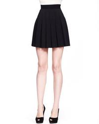 Alexander McQueen High Waist Pleated Skirt Black