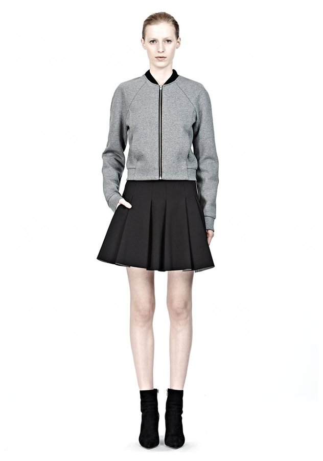 ad2c8722baa ... Alexander Wang Jersey Bonded Neoprene Box Pleat Skirt ...