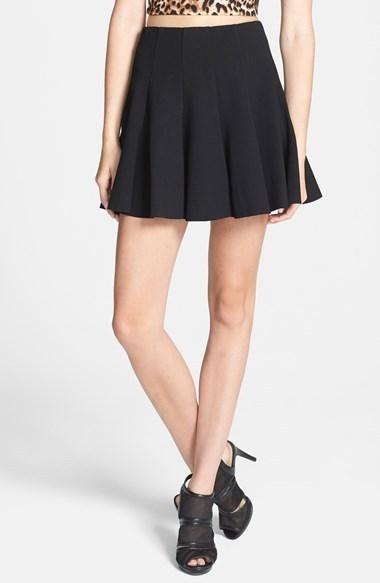 70223a7015e ... Astr Ponte Knit Pleated Skater Skirt ...