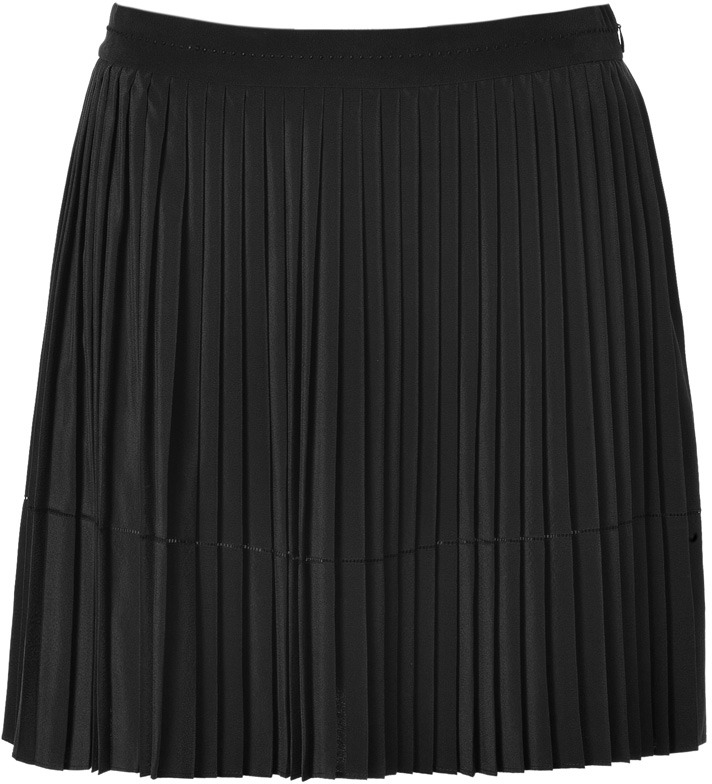 Vanessa Bruno Ath Silk Pleated Skirt In Black | Where to buy & how ...