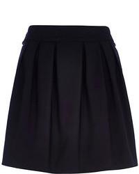 River Island Black Box Pleat Mini Skirt