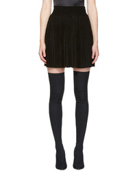 Black pleated miniskirt medium 5082052