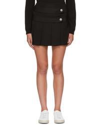 Versus Black Pleated Miniskirt