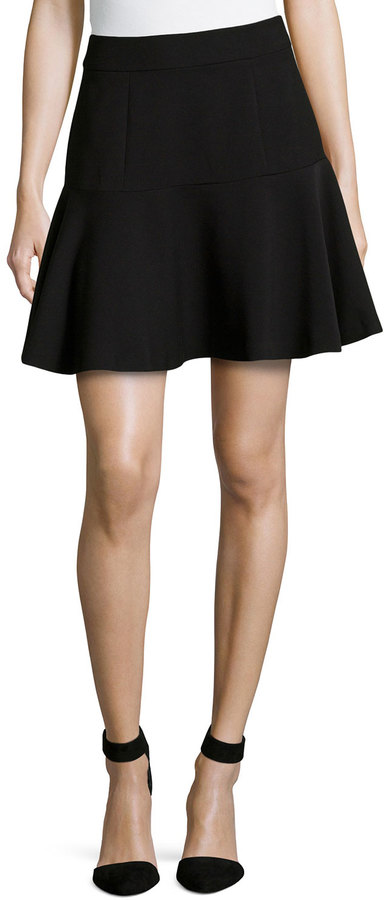 black pleated mini skirt catherine malandrino catherine